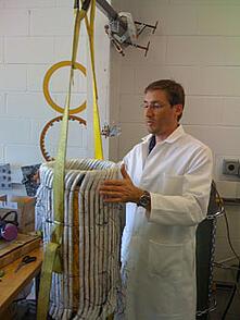 Energy Storage Flywheel Motor Coils Under Construction