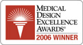 2006 Winner Medical Design Excellence Award for Inogen One