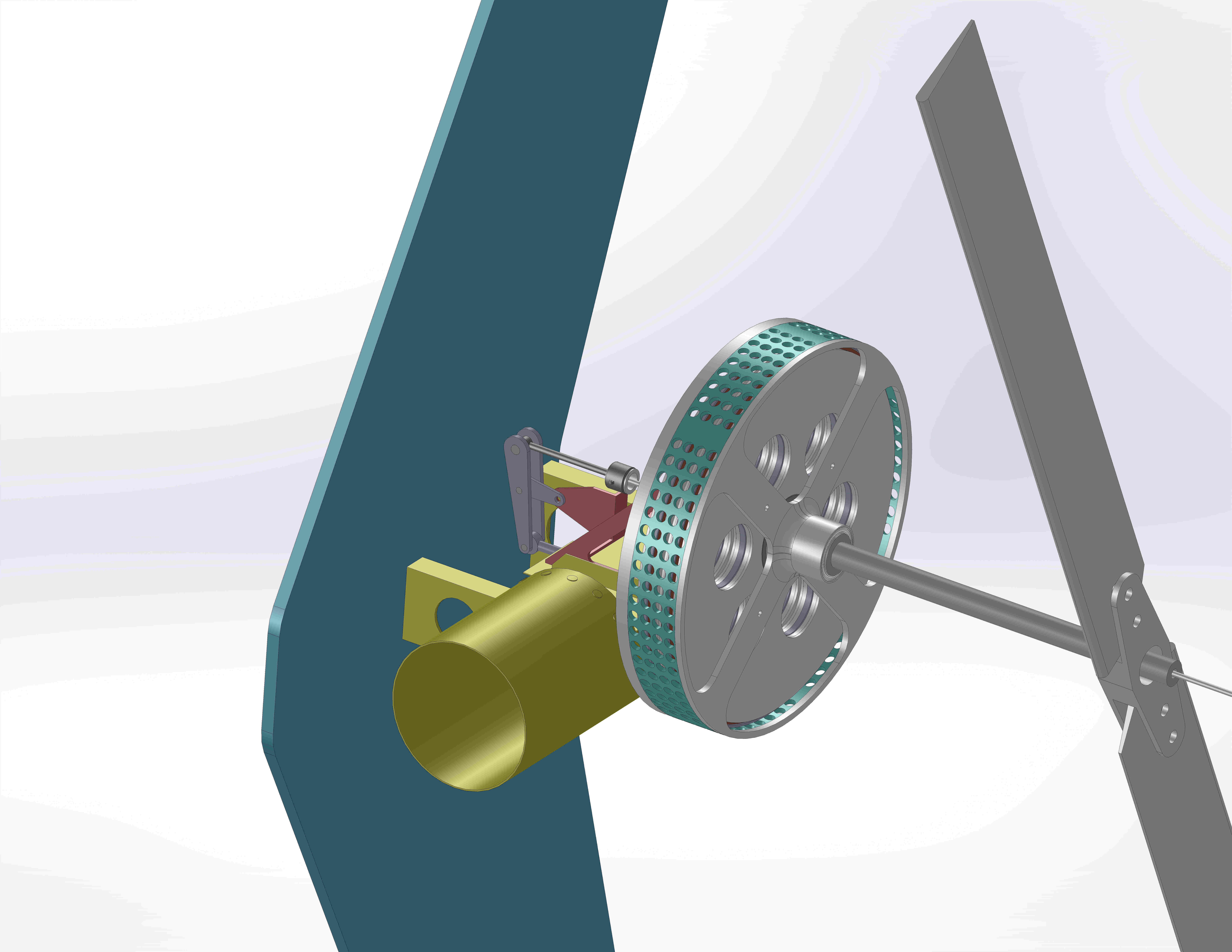 Tail Rotor Assembly Using LaunchPoint Motor